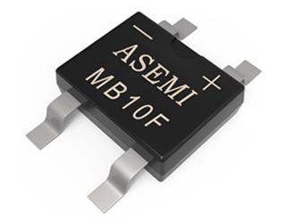 MB10F/MB8F/MB6F,ASEMI贴片整流桥,薄体贴片小封装用50MIL芯片,智能插座、电表设备适配整流桥MB10F