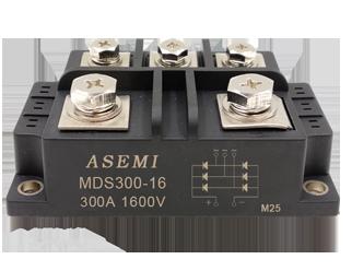 MDS300-16,MDS250-16, ASEMI三相整流模块