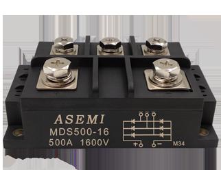 MDS500-16,MDS400-16, ASEMI三相整流模块