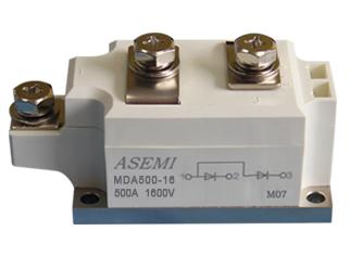 MDA500-16,MDA500-12,MDA400-16,MDA400-12,  ASEMI单臂共阳极整流模块