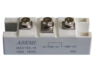 MDK165-16,MDK165-12,MDK200-16,MDK200-12,  ASEMI单臂共阴极整流模块